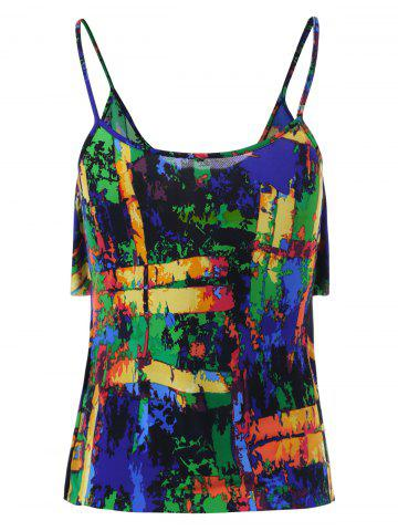 Shops Layered Graphic Tank Top - 2XL COLORMIX Mobile