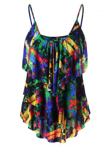 Best Layered Graphic Tank Top COLORMIX 2XL