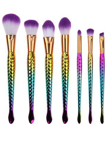 Shop 7 Pcs Multifunction Mermaid Shape Makeup Brush Kit MULTI COLOR