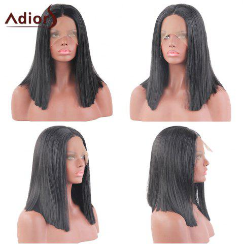 Adidas Medium Middle Part Straight Bob perruque synthétique en dentelle en dentelle