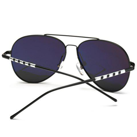 Outfit Mirrored Polarized UV Protection Pilot Sunglasses - BLACK+GREY  Mobile