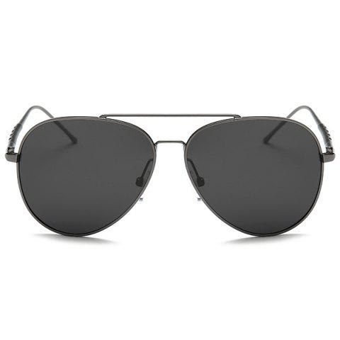 Shops Mirrored Polarized UV Protection Pilot Sunglasses - GUN GREY FRAME+GREY LENS  Mobile
