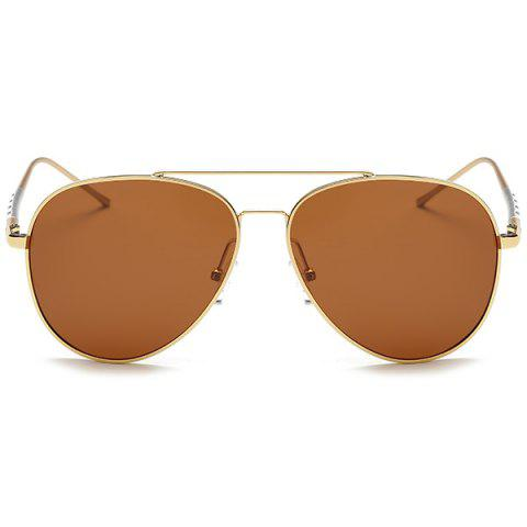 Outfit Mirrored Polarized UV Protection Pilot Sunglasses - GOLD FRAME+DRAK BROWN  Mobile