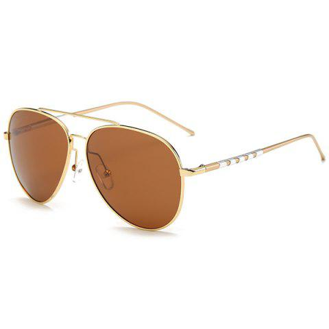 Shops Mirrored Polarized UV Protection Pilot Sunglasses GOLD FRAME/DRAK BROWN
