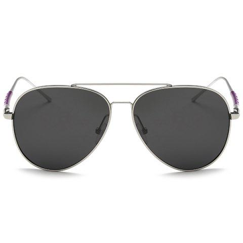 Discount Mirrored Polarized UV Protection Pilot Sunglasses - SILVER FRAME+GREY LENS  Mobile