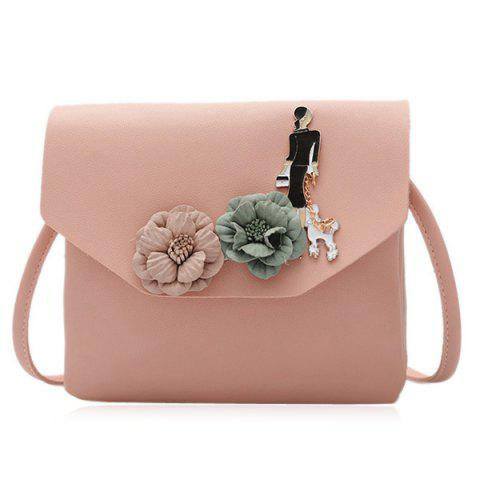 Unique Flower Embellished Cross Body Bag
