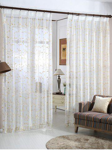 Hot Babysbreath Embroider Sheer Tulle Curtain