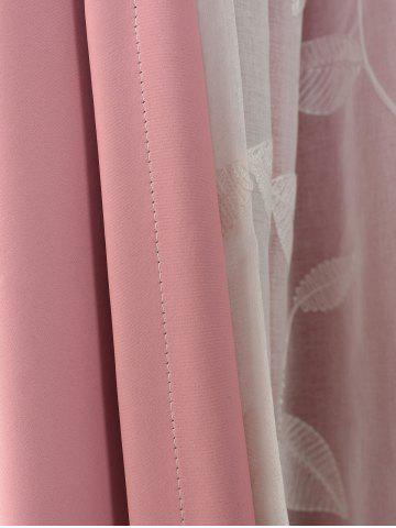Store Princess Style Double Layers Curtains For Girl Bedroom - W42INCH*L63INCH PINK Mobile