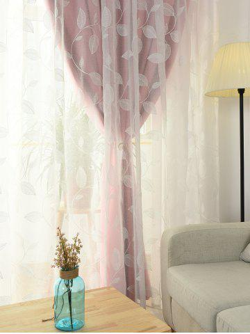 Affordable Princess Style Double Layers Curtains For Girl Bedroom - W42INCH*L63INCH PINK Mobile