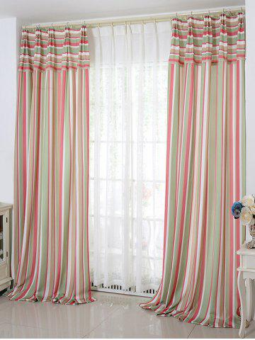 Unique Stripe Blackout Curtain Window Shading Decor(Without Tulle) - W42INCH*L63INCH RED Mobile