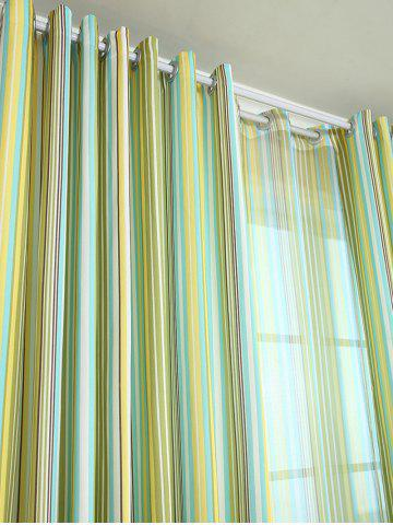 Best Stripe Blackout Curtain Window Shading Decor(Without Tulle) - W42INCH*L63INCH YELLOW Mobile