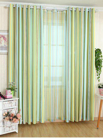 Unique Stripe Blackout Curtain Window Shading Decor(Without Tulle) - W42INCH*L63INCH YELLOW Mobile