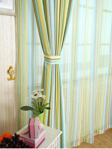 Shops Stripe Blackout Curtain Window Shading Decor(Without Tulle) - W42INCH*L63INCH YELLOW Mobile