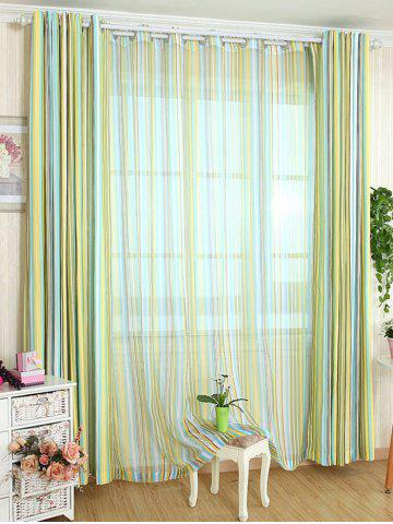 Shops Stripe Blackout Curtain Window Shading Decor(Without Tulle) - W54 INCH * L84 INCH YELLOW Mobile