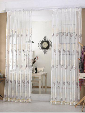 Цветочная вышивка Sheer Tulle Curtain Window Shading