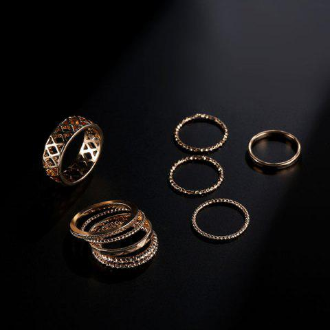 Cheap Circle Chain Bracelets with Rings - GOLDEN  Mobile