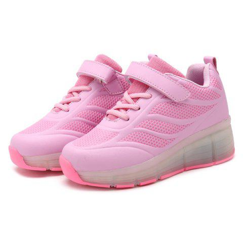 Outfits Led Luminou Geometric Pattern Athletic Shoes - 39 PINK Mobile