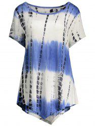 Printed Asymmetric Long Tee