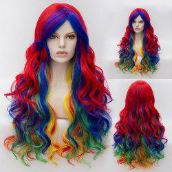 Long Wavy Inclined Bang Gradient Synthetic Cosplay Lolita Wig