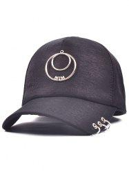 Metallic Letters Circle Ring Baseball Hat