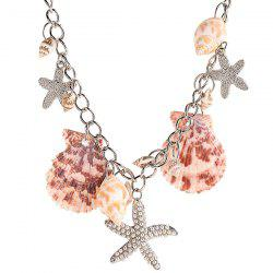 Beach Style Starfish Shell Pendant Necklace