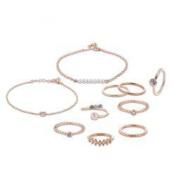 Faux Pearl Circle Rings with Bracelets