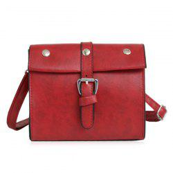 Faux Leather Buckle Strap Crossbody Bag