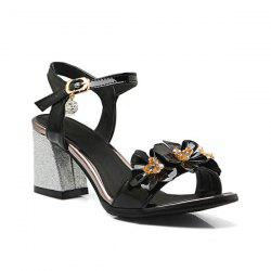 Flowers Patent Leather Sandals