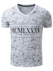 Short Sleeve Splatter Paint Graphic Print T-Shirt