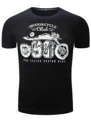 Short Sleeve Motorcycle Graphic Print T-Shirt