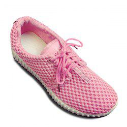 Breathable Mesh Athletic Shoes - PINK