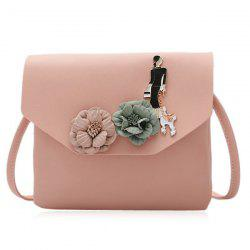 Flower Embellished Cross Body Bag -