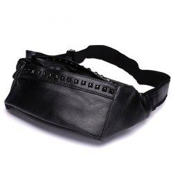 Faux Leather Rivet Sling Bag