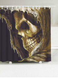 Skull Polyester Waterproof Shower Curtain