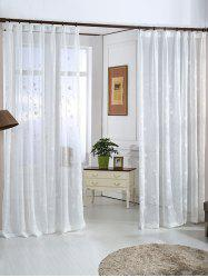 Floral Embroidery Sheer Window Tulle Curtain