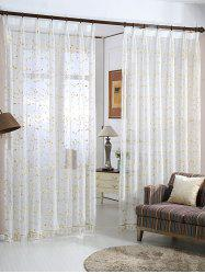 Babysbreath Embroider Sheer Tulle Curtain -