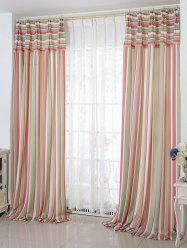 Stripe Blackout Curtain Window Shading Decor(Without Tulle)