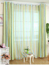 Stripe Blackout Curtain Window Shading Decor ( Without Tulle ) -