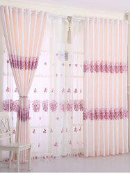 1PCS Hydrangea Print Shade Blackout Curtain (Without Tulle)