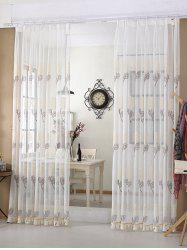 Flower Embroidery Sheer Tulle Curtain Window Shading