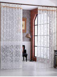 Leaf Rattan Sheer Tulle Curtain Voile Drape