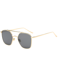 Anti UV Polygonal Metal Crossbar Sunglasses