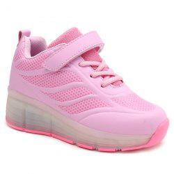 Led Luminou Geometric Pattern Athletic Shoes
