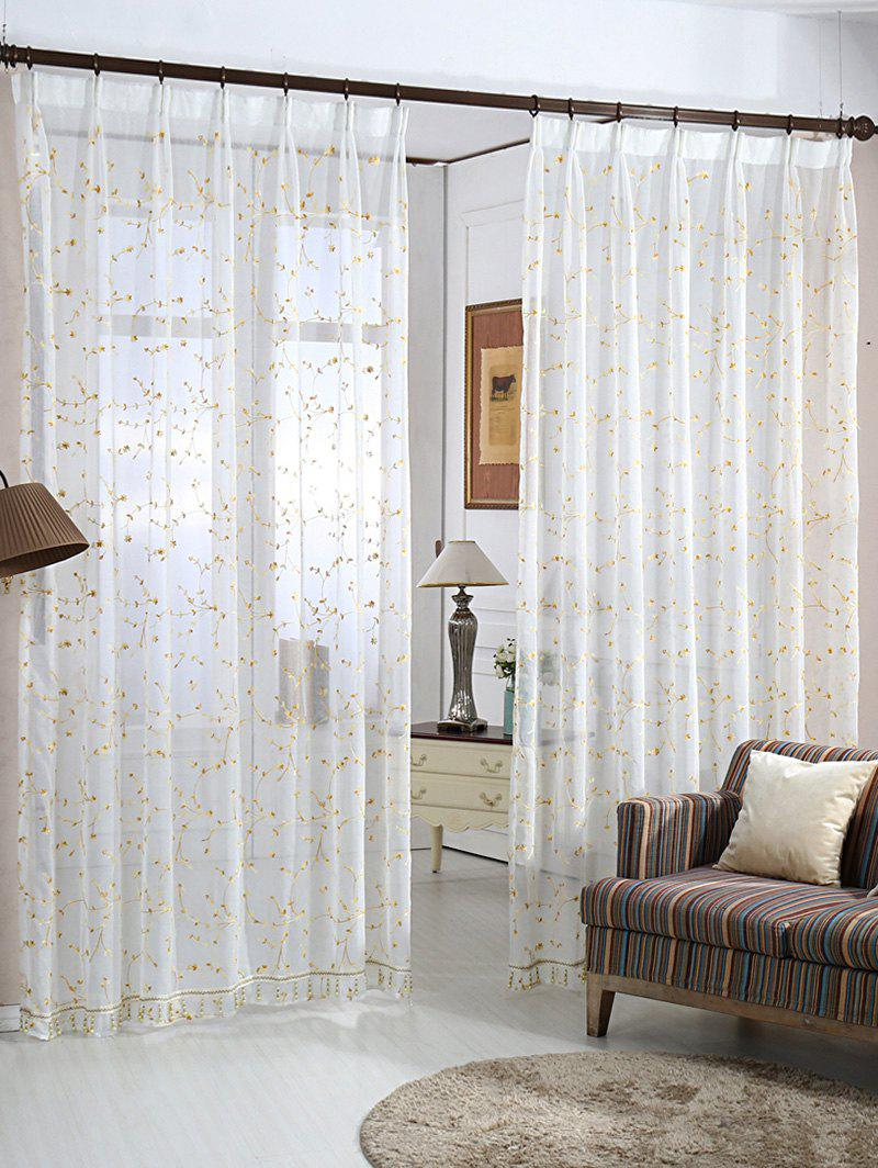 Discount Babysbreath Embroider Sheer Tulle Curtain