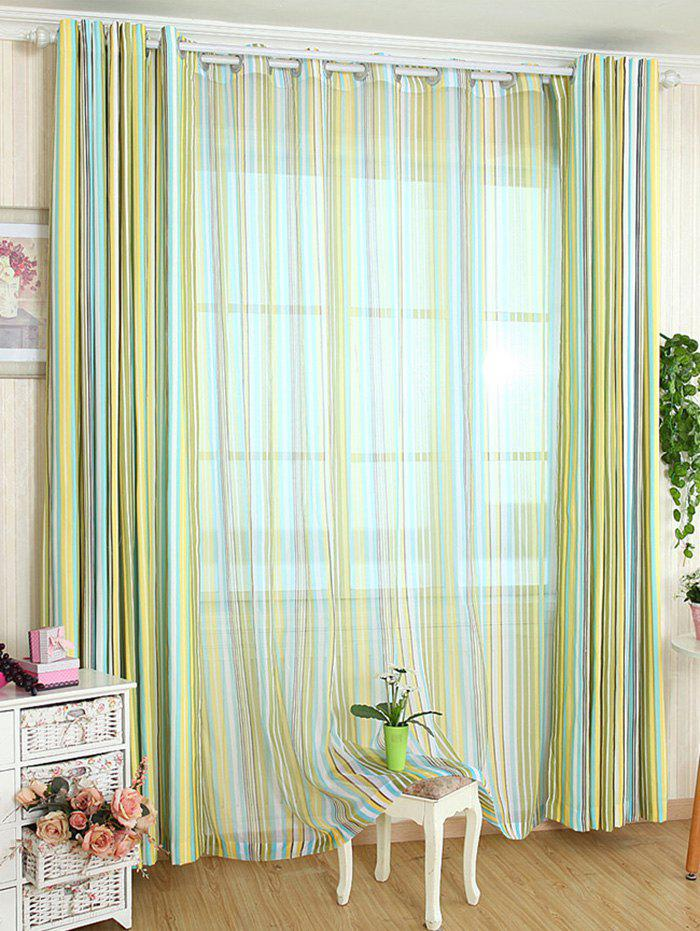 Outfit Stripe Blackout Curtain Window Shading Decor ( Without Tulle )