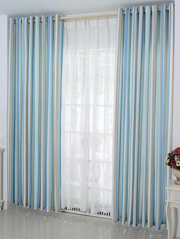 Online Stripe Blackout Curtain Window Shading Decor ( Without Tulle )