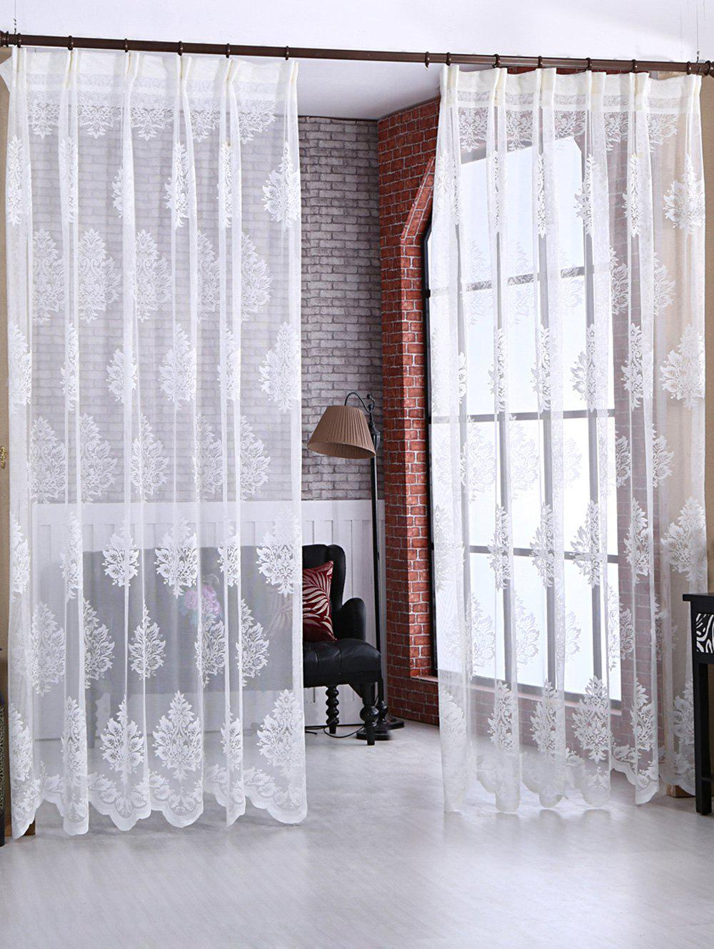 Latest Floral Sheer Tulle Curtain Door Window Balcony Screen