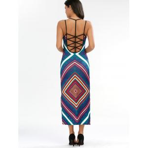 Criss Cross Backless Tank Maxi Dress