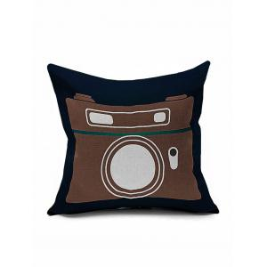 Retro Camera Print Sofa Cushion Cover Pillowcase