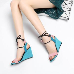 Tassles Color Block Sandals -